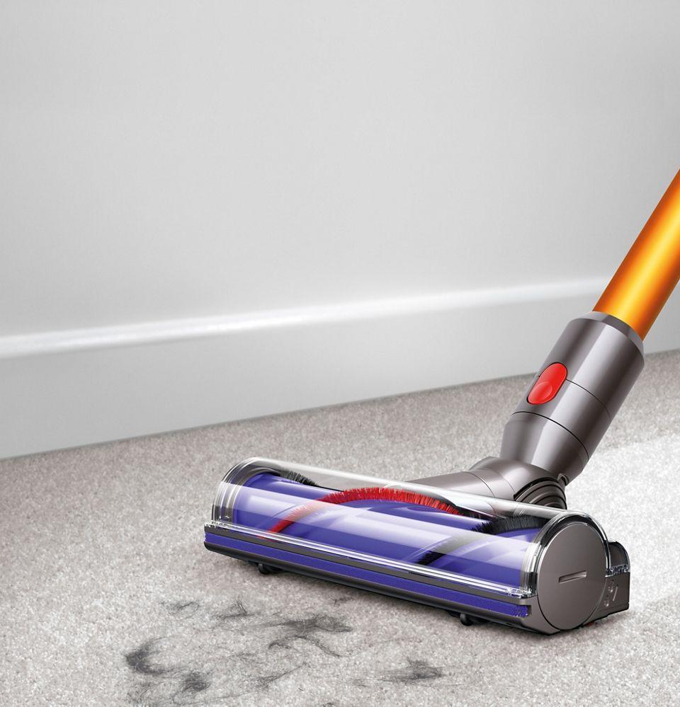 Vacuum head on carpet